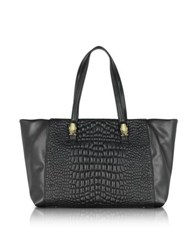 Class Roberto Cavalli True Diva Medium Black Quilted Eco Leather Tote Bag