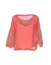 Vdp Beach Shirts Blouses Women Coral