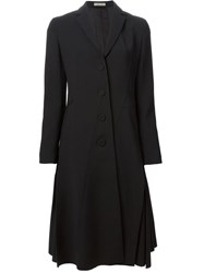 Bottega Veneta Flared Trench Coat Black
