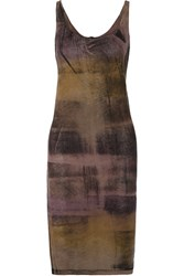 Raquel Allegra Tie Dyed Stretch Cotton Blend Jersey Dress Brown