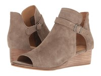 Lucky Brand Reemas Brindle Oiled Suede Women's Wedge Shoes Tan
