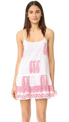 Juliet Dunn Cami Cover Up Dress White Red