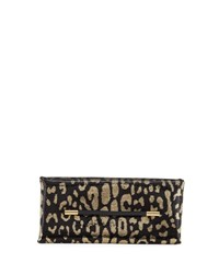 Tom Ford Ava Sequin Jaguar Clutch Bag Gold