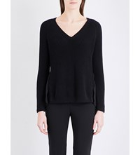French Connection Mozart Floral Lace Knitted Jumper Black