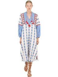 Dodo Bar Or Cotton Jacquard And Lace Dress W Tassels Multicolor