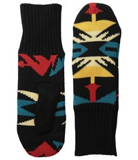 Pendleton Fleece Lined Mittens Echo Peaks Black Wool Gloves Multi