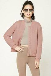 Forever 21 Perforated Bomber Jacket