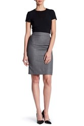 Hugo Boss Wool Blend Zip Skirt Multi
