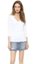 Three Dots Double Layer Top White