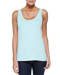 Johnny Was Scoop Neck Cotton Tank Petite Artic Mint