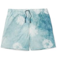 Acne Studios Perry D Mid Length Printed Shell Swim Shorts Teal