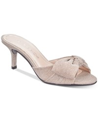 Caparros Lydia Bow Slide Evening Sandals Women's Shoes Nude Fabric