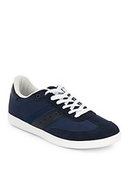 Penguin Textured Leather Sneakers Navy