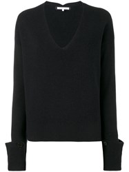 Helmut Lang V Neck Jumper Blue
