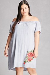 Forever 21 Plus Size Off The Shoulder Dress Denim