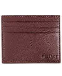 Jack Spade Men's Barrow Leather 6 Card Holder Bright Red