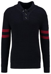 G Star Gstar Dadin Sport Shawl Knit L S Jumper Dark Black Sartho Blue Dark Blue