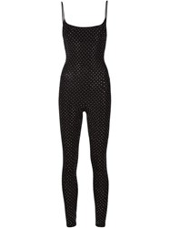 Faith Connexion Fitted Studded Spaghetti Straps Jumpsuit Black