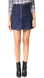 Madewell Denim Zip Miniskirt Donna Wash