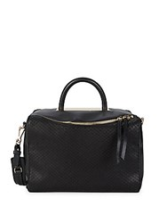 Vince Camuto Textured Leather Satchel Black