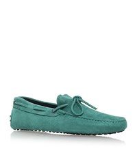 Tod's Scooby Doo Tie Driver Shoes Male Teal