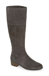 Sole Society Carlie Knee High Boot Iron Suede