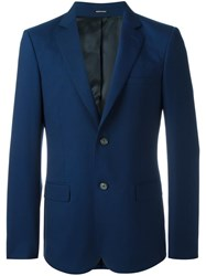 Alexander Mcqueen Tailored Blazer Blue