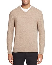 Bloomingdale's The Men's Store At Cashmere V Neck Sweater Heather Brown