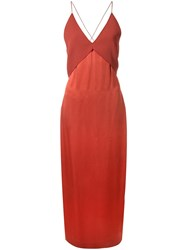 Dion Lee Transfer Cami Dress Red