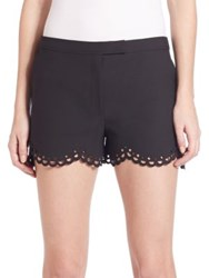 Elizabeth And James Perforated Shorts Black