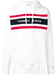 Tommy Jeans Logo Hoodie White