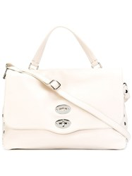 Zanellato 'Postina' Satchel Leather White