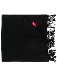 Dsquared2 Embroidered Logo Scarf Black