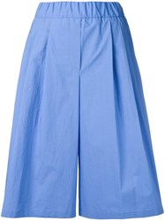 Odeeh Pleated Shorts Blue