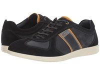 Ecco Indianapolis Sneaker Navy Navy Men's Lace Up Casual Shoes Blue