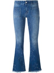 Stella Mccartney '70'S Flare' Star Detail Jeans Blue