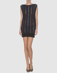 Paolo Errico Short Dresses Dark Blue