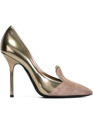 Pollini Slipper Style Pumps Metallic