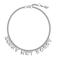 I Still Love You Nyc Petite Sorry Not Sorry Necklace Silver Mirror