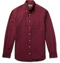 Gitman Brothers Vintage Slim Fit Button Down Collar Cotton Oxford Shirt Burgundy