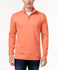 Club Room Men's Quarter Zip Sweatshirt Only At Macy's Melon Burst