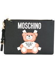 Moschino Toy Bear Paper Cut Out Clutch Black