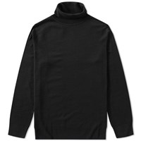 Sunspel Roll Neck Jumper Black