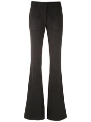 Olympiah Slim Fit Flared Trousers Black