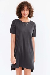 Silence And Noise Ribbed Mini T Shirt Dress Washed Black