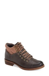Women's Kensie 'Sissel' Lace Up Bootie Grey Leather