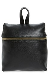Kara Small Backpack Black Black With Gold Zipper