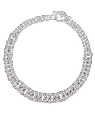 Lauren Ralph Lauren Double Curb Chain Necklace Silver