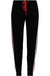 Chinti And Parker Woman Intarsia Knit Cashmere Wool Blend Track Pants Black