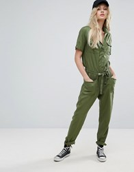 Lee Utility Jumpsuit Military Green
